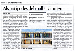 Article by Llàtzer Moix in La Vanguardia about the project in ETSAV (DATAAE · HARQUITECTES)