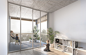 1st prize Social housing Competition