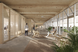 1st prize. Mixed uses facilities Competition in Illa Q. Barcelona