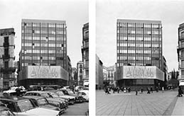 Second mention in the competition of restoration of COAC façade. Barcelona